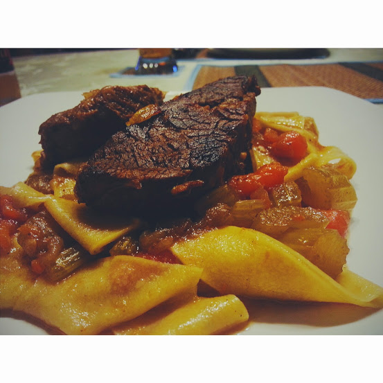 Guiness Braised Short Rib with Handmade Pappardelle