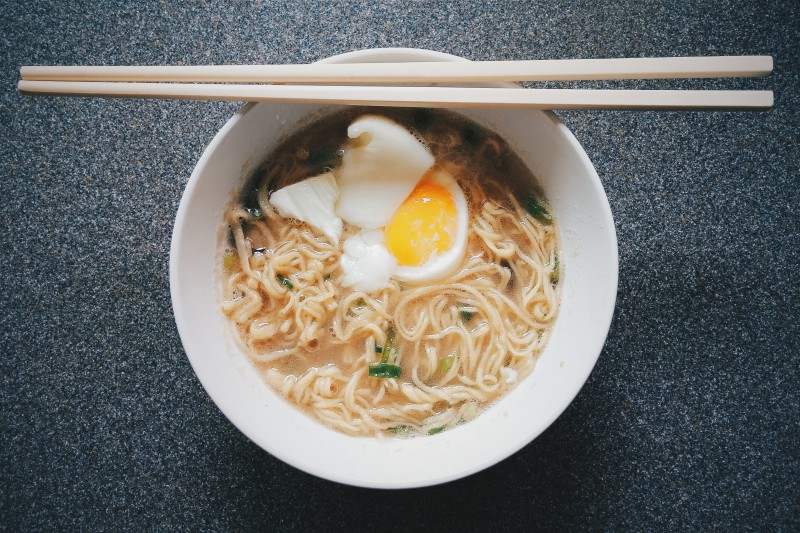 Step up your leftover ramen broth game with home made noodles!