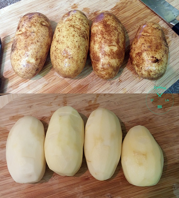 My potatoes were a little smaller, so I used 4 instead of 3.